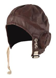 Adult Biggles Pilot Hat 1940s Aviator WW2 Fancy Dress Book Day Costume Accessory
