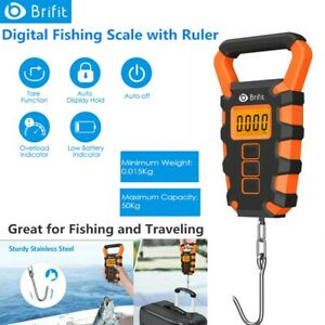 Digital Fishing Hook Travel Luggage Fish Scale Weight with Measuring Tape Ruler