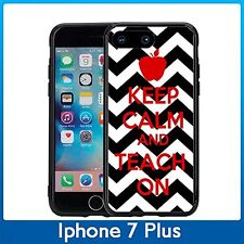 Keep Clam And Teach On Chevron For Iphone 7 Plus & Iphone 8 Plus (5.5) Case