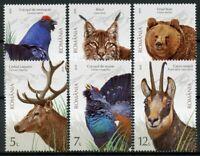 Romania 2019 MNH Protected Fauna 6v Set Birds Lynx Bears Wild Animals Stamps