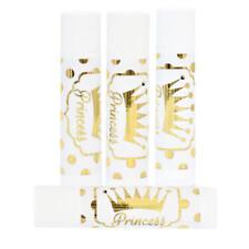30 Princess Stickers, Gold Princess Stickers, Lip Balm Princess Party Stickers
