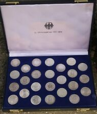 5 DM Kursmünzen  complette sammlung  1951  bis 1974   incl   1958 J