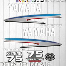 Yamaha 75 HP Four Stroke outboard engine decal sticker kit reproduction Printed