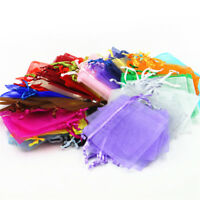 100pcs Organza Jewelry Candy Gift Pouch Bags Wedding Party Favors Decor  7 x 9cm