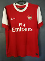 MEN'S NIKE FC ARSENAL 2010/2011 HOME FOOTBALL SOCCER SHIRT JERSEY MAILLOT SIZE L
