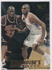 1995-96 Metal Stackhouse's Scrapbook #S7 Jerry Stackhouse WITH Michael Jordan