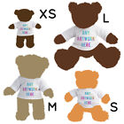 1 Personalised White T-Shirt for Teddy Bear Toy Photo Text Logo Printed Gift