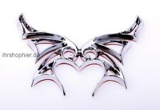 Schmetterling Butterfly Emblem Logo Chromlogo 3DAufkleber Schild Klebeschild NEU