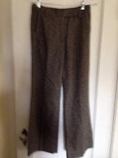 ESPRIT Collection brown tweed pants with grosgrain trim -4-NWT!