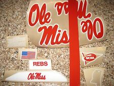 Ole Miss Rebels  20 mil 3M vinyl full size football helmet decals