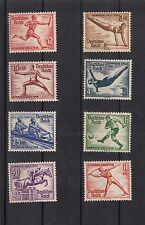 451 ) Germany The Nazi Empire 1936 - 8 Stamps Olympic Games Berlin
