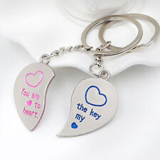2pcs Pair Couple Keychains You are the Key to my Heart Pink Blue USA Ship #6