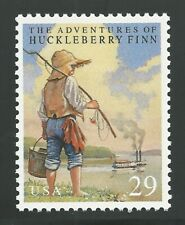 SALE! The Adventures of Huckleberry Finn Mark Twain Stamp of Book MINT CONDITION