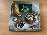 "VINTAGE 1986 ""HARRODS BOOK OF CAKES & DESSERTS"" RECIPE COOKING HARDBACK BOOK"