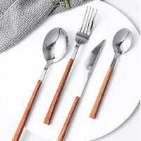 4Pcs Stainless Steel Knife Fork Spoon Travel Camping Flatware Cutlery bar Set