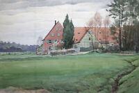 Gustav Müller Aquarell Koppenhof Zwinglhof 11.April 1948