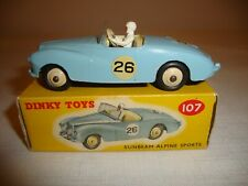 DINKY 107 SUNBEAM ALPINE SPORTS COMPETITION MODEL - NR MINT in original BOX