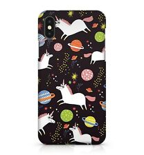 Flying White Space Unicorns Colourful Galaxy Planets Pattern Phone Case Cover