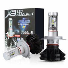 LAMPADE H4 LED Zes X3 Chip 2 Gen 6000 LM 50W CANBUS 3000K 6500K 8000K IP67 Xenon
