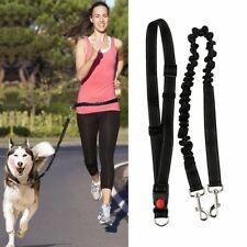 Dog Leash Lead Waist Belt Adjustable Hands Free For Jogging Walking Running HW