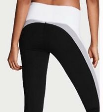 Victoria's Secret VSX Sport Knockout Tight PANTS BLACK WHITE COLORBLOCK X-small