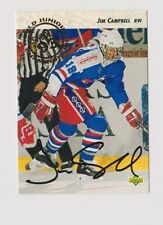 92/93 Upper Deck Jim Campbell Team USA Autographed Hockey Card