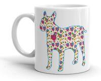 English Bull Terrier Mug Cool Modern Heart Design Dog Birthday Mothers Day Gift