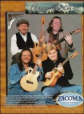 Tacoma Papoose Guitars 8 x 11 ad Ricky Skaggs Travis Tritt Norman Blake GE Smith