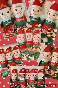 Personalized Plush Elf, Christmas Elf, Stocking Stuffer, First Christmas