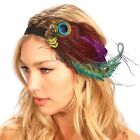 Peacock Feather Headband Fascinator Flapper Inspired Headpiece