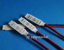 Mini 3 Key Controller Dimmer Amplifier For RGB 5050 3528 LED Light Strip 12V