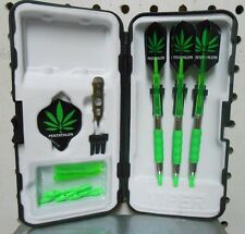 Viper Darts 16 gm SURE GRIP GREEN Neon, Hemp Soft Tip Dart Set W/25 Extra Tips
