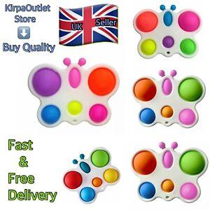 UK Seller Simple Dimple Butterfly Push Pop It Bubble Stress Relief Sensory