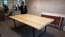 Industrial, Rustic Reclaimed Board room Table, large tables, metal leg table
