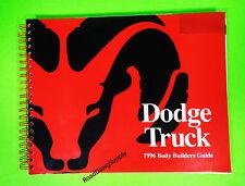 1996 Dodge Truck Body Builders Shop Manual Ram 1500 2500 3500 Diesel Van Dakota