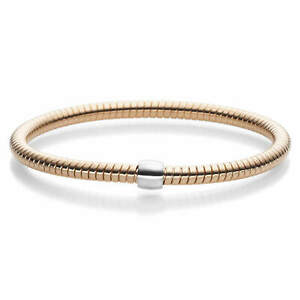 Himbeer-Armband Arm Cuff Arm Jewellery Elastic 4,5mm 585 Gold Rose Gold Ladies