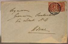 POSTA MILITARE 18^ DIVISIONE 2.4.1917 BUSTA AFFRANCATA TIMBRO DI REPARTO #XP265N