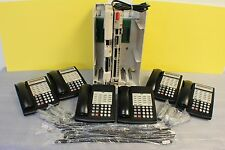 Lucent Avaya Partner Acs R6 Phone System w/ (6) 18D Telephones, Vm, Aa & More.