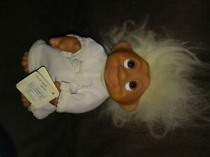 """Vintage 1985 DAM Denmark Norfin Troll bride Doll 9"""" with tags"""