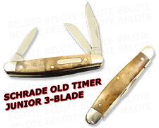 Schrade Old Timer Junior 3-Blade IRONWOOD Knife 108OTW