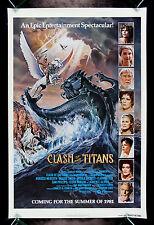 CLASH OF THE TITANS * CineMasterpieces ORIGINAL MOVIE POSTER RELEASE THE KRAKEN