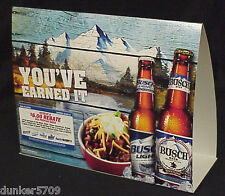 BUSCH CARDBOARD DISPLAY BOARD WITH EXPIRED 2013 REBATE MAIL-IN OFFER PAPERS