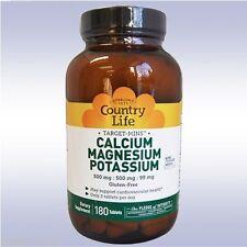 COUNTRY LIFE TARGET MINS CALCIUM MAGNESIUM POTASSIUM (180 TABLETS) amino acids