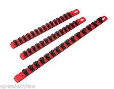 "3pc 1/4"",3/8"",1/2"" Twist Lock Socket Organizer Set  Socket Holder - Made in USA"