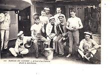 WW1 French Cooks On Ship  Marine  De Guerre - A Bord d'un Cuirasse