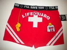 NEW LIFEGUARD I'LL SAVE YOU BEACH SPF BOXER BRIEF Shorts Underwear Men L 36-38