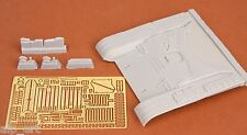 resin p/e T-72M early front hull armour set for Tamiya kit 1:35 SBS Model 35006