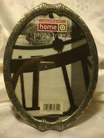 "Classic Home Silver-Tone Floral Ornate Photo Frame 5""x 7"" Picture Decor        6"
