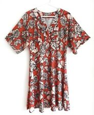 ASOS RED & WHITE FLORAL JERSEY DRESS 14/42