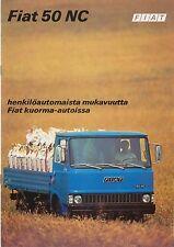 FIAT 50 NC CAMION metà degli anni settanta ORIGINALE finlandese SALES BROCHURE No. Ministro degli affari